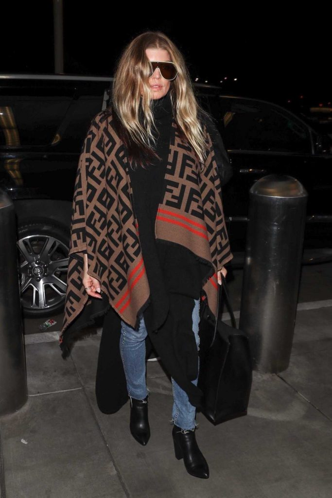 Fergie in a Fendi Poncho