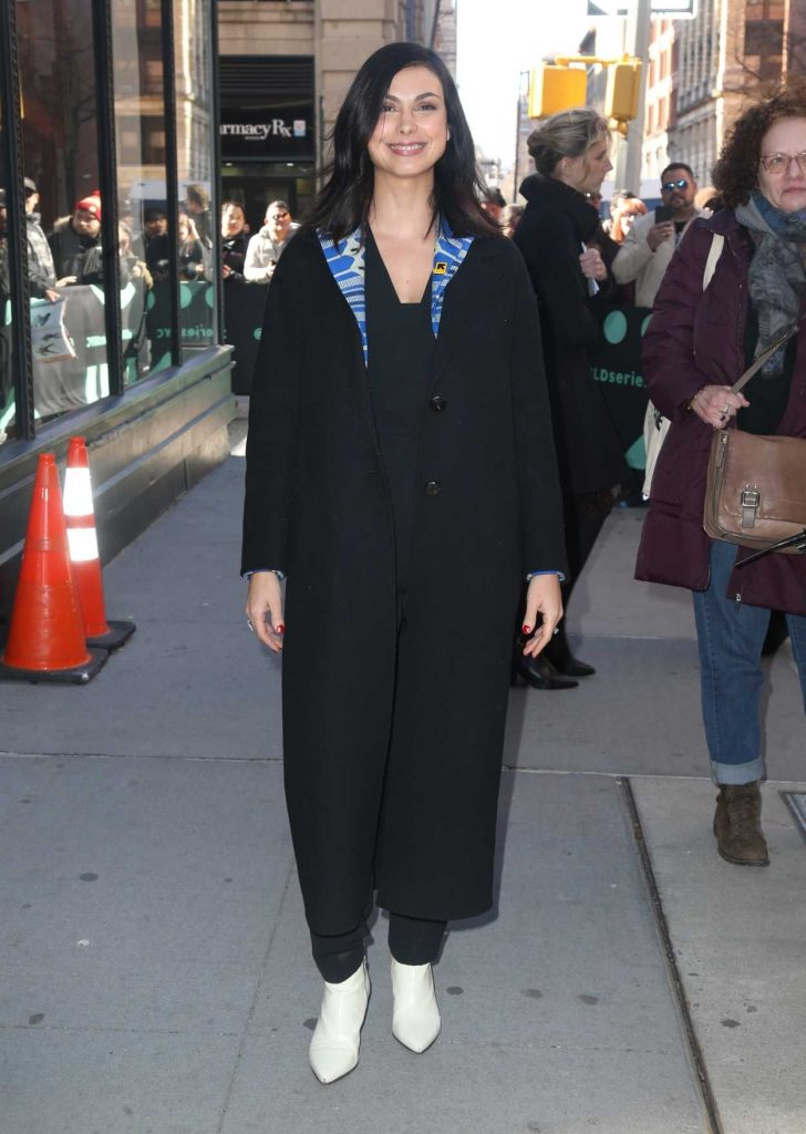 Morena Baccarin in a Black Coat
