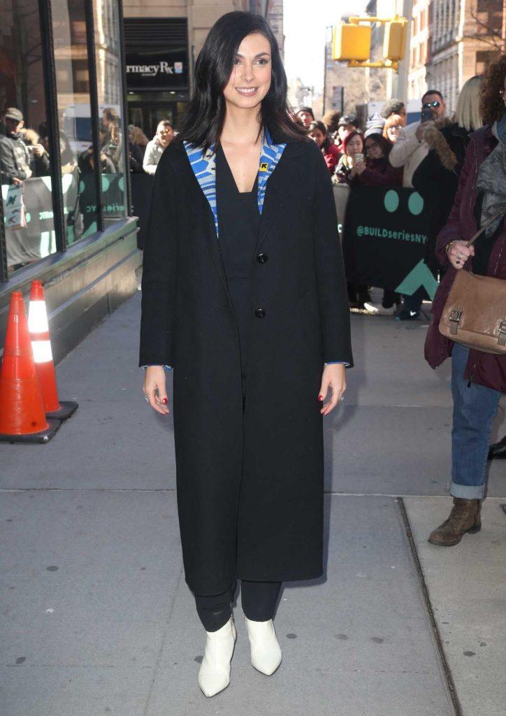 Morena Baccarin in a Black Coat