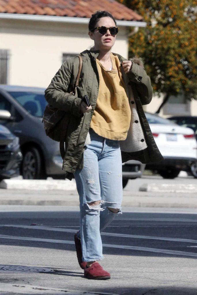 Rachel Bilson in a Green Jacket