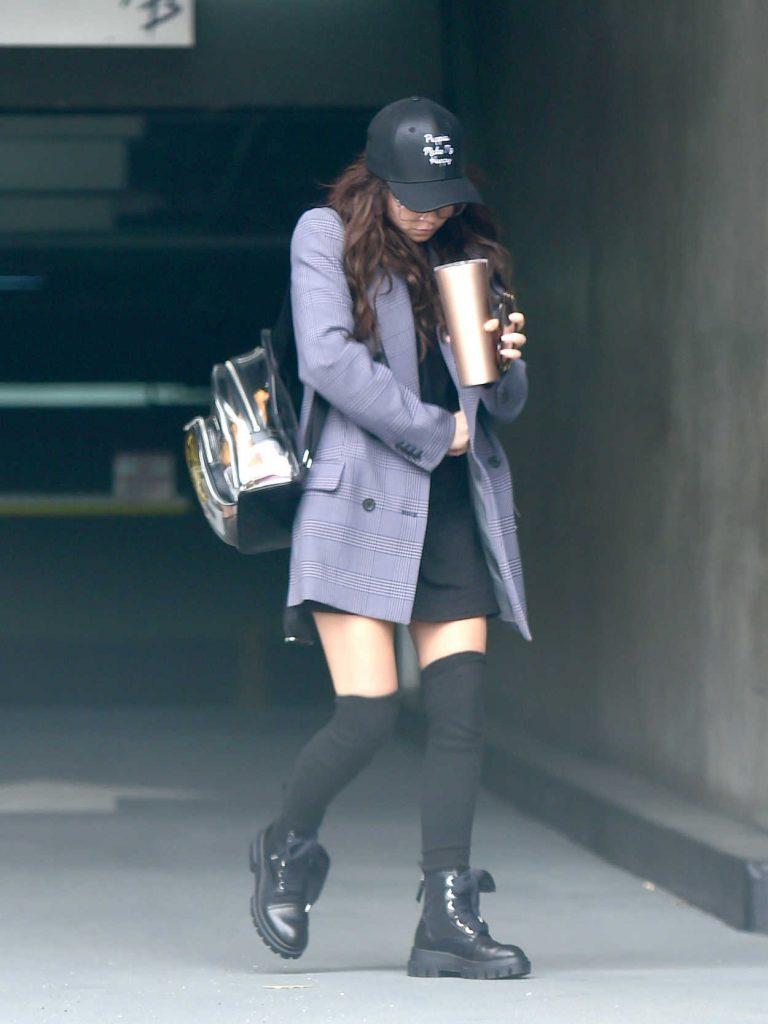Sarah Hyland in a Gray Blazer