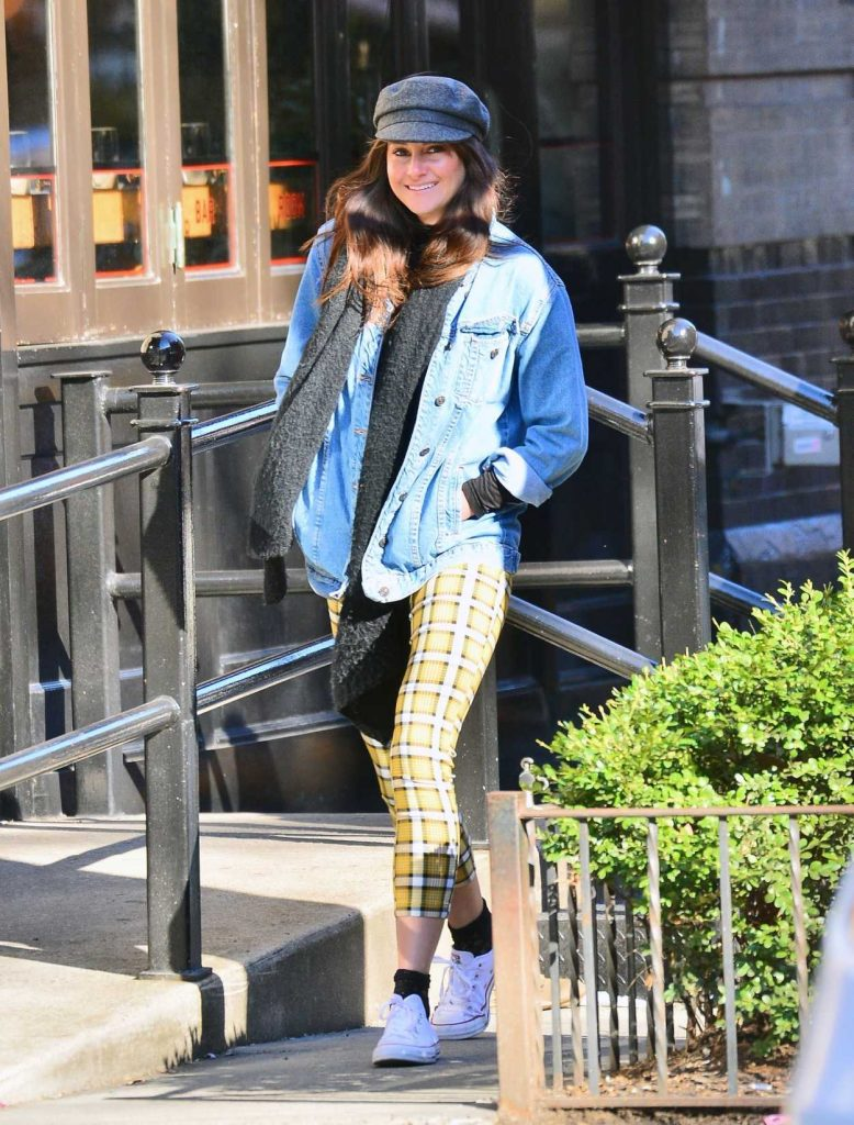 Shailene Woodley in a Blue Denin Jacket