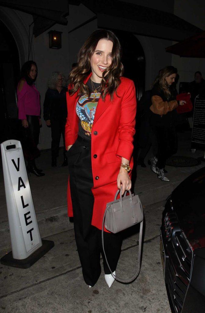 Sophia Bush in a Red Coat