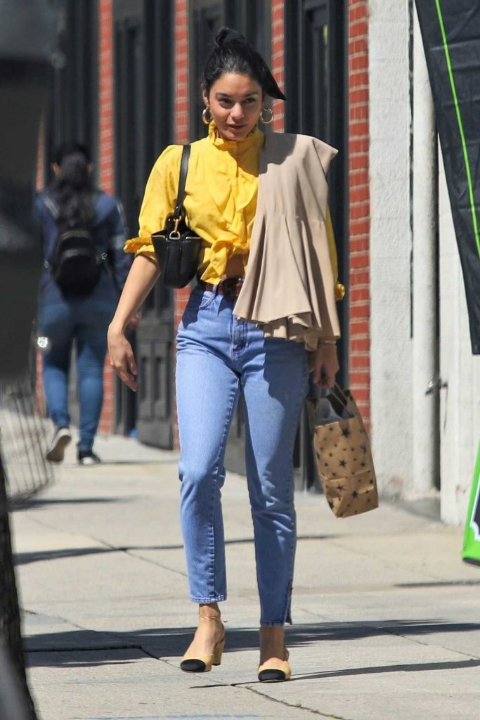 Vanessa Hudgens in a Yellow Blouse