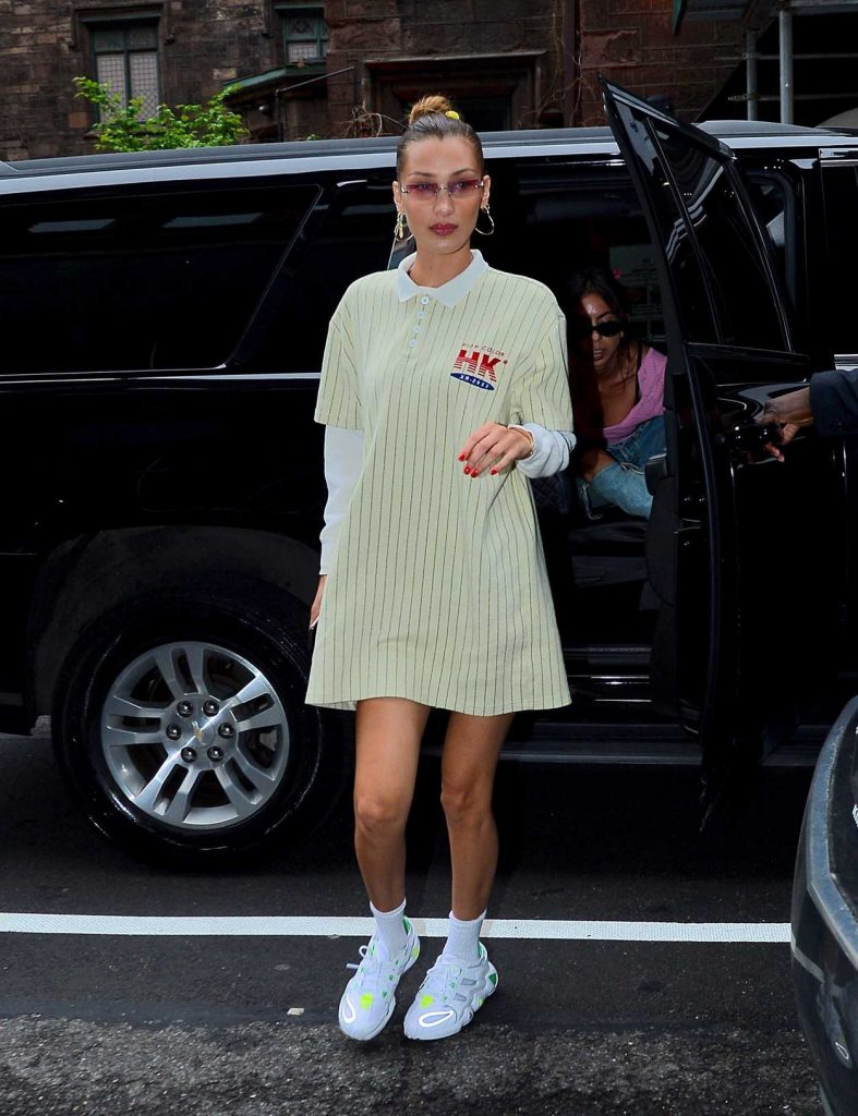 Bella Hadid in a White Sneakers