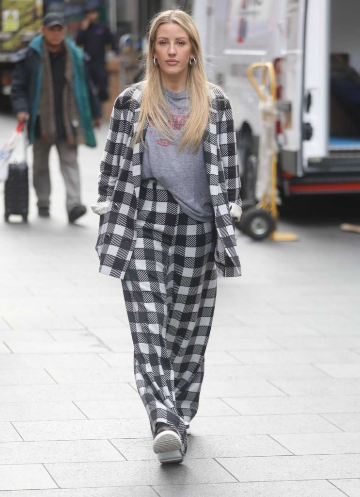 Ellie Goulding in a Plaid Suit