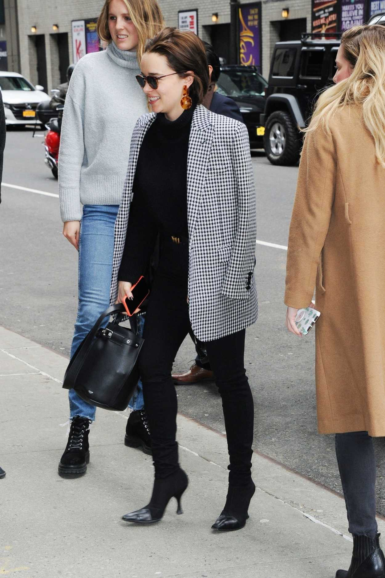 Emilia Clarke Arrives at The Late Show with Stephen ...