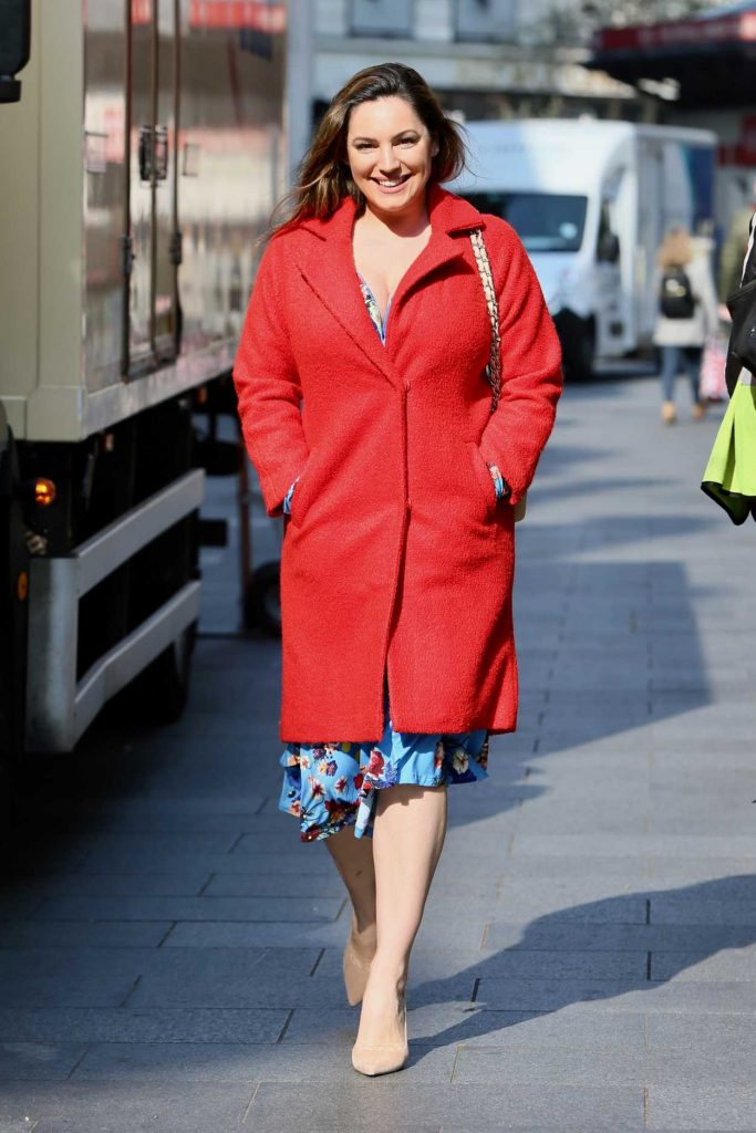 Kelly Brook in a Red Coat