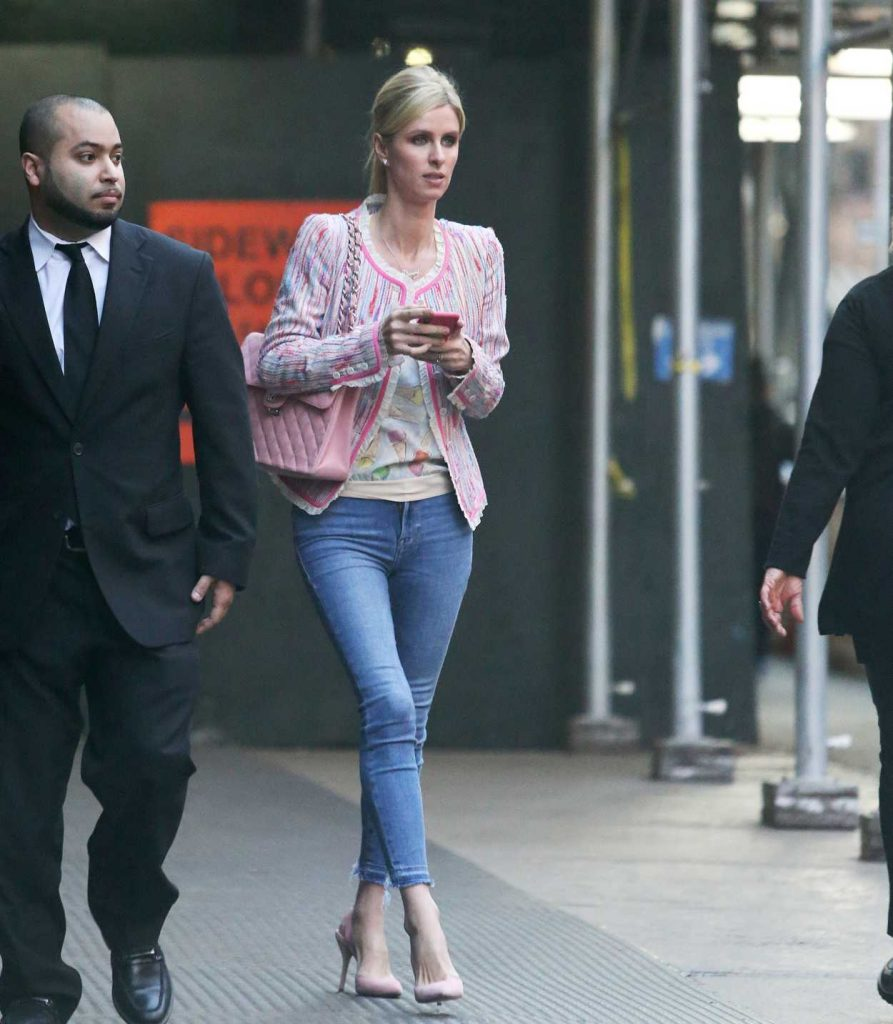 Nicky Hilton in a Blue Slim Jeans