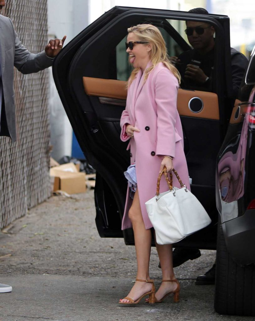 Reese Witherspoon in a Pink Coat