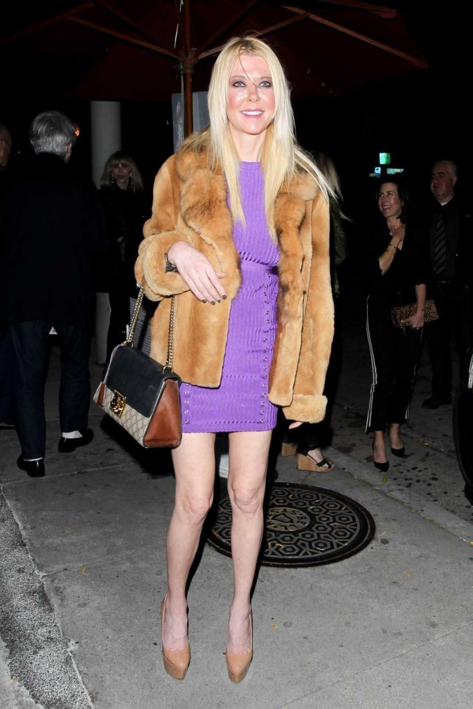 Tara Reid in a Purple Dress