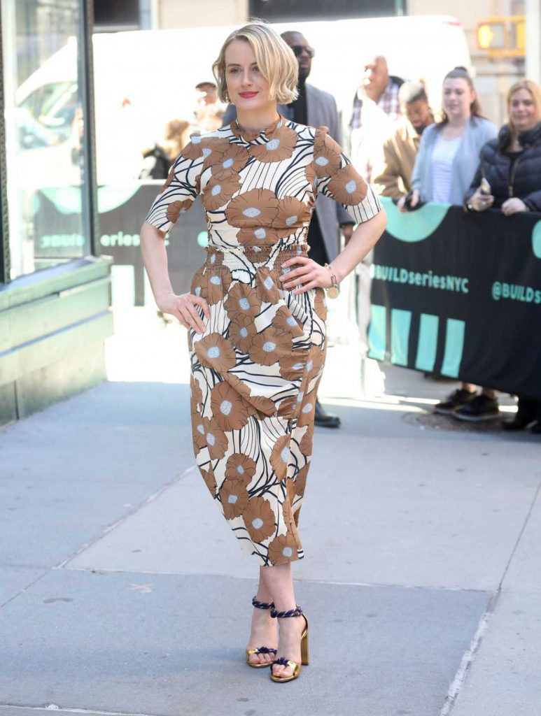 Taylor Schilling in a Long Floral Dress