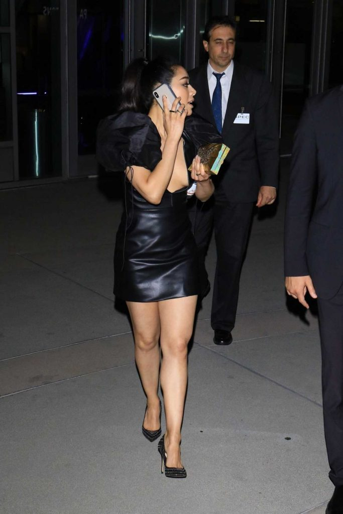 Aimee Garcia In A Black Dress Arrives At A Special