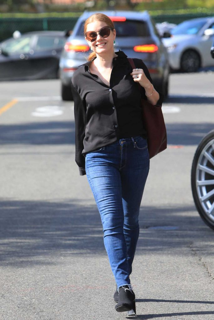 Amy Adams in a Black Blouse