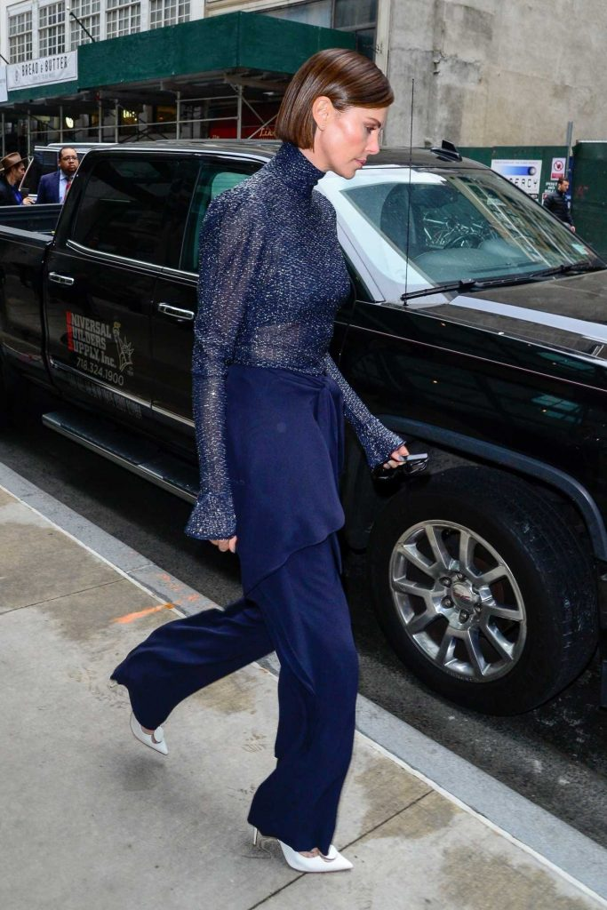 Charlize Theron in a Blue Pants