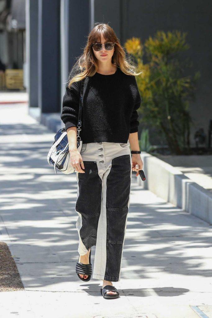 Dakota Johnson in a Black Sweater
