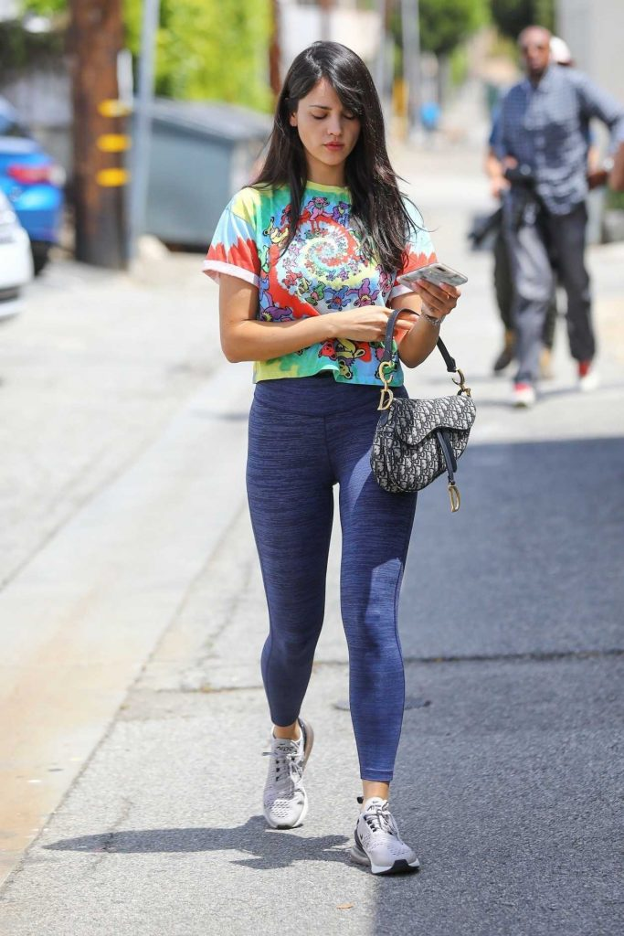 Eiza Gonzalez in a Blue Leggings