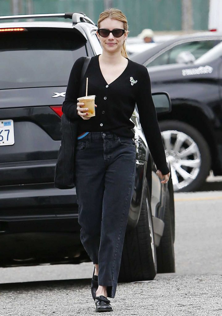 Emma Roberts in a Black Jeans
