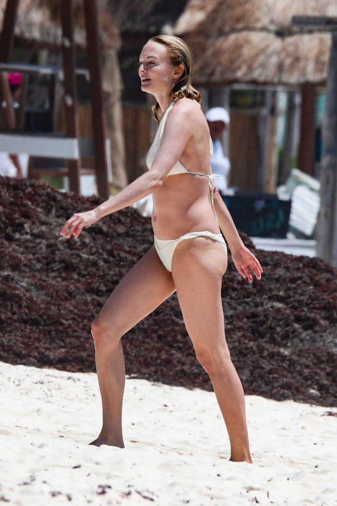 Heather Graham in a White Bikini
