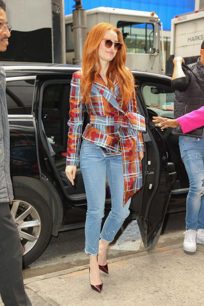Madelaine Petsch in a Blue Jeans