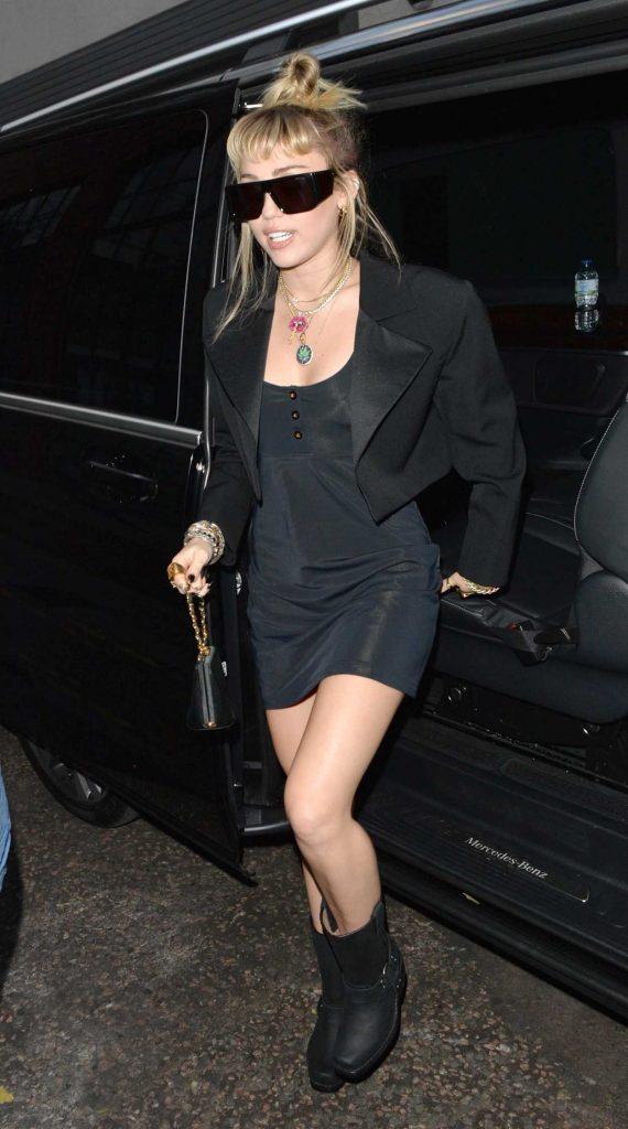 Miley Cyrus in a Black Dress