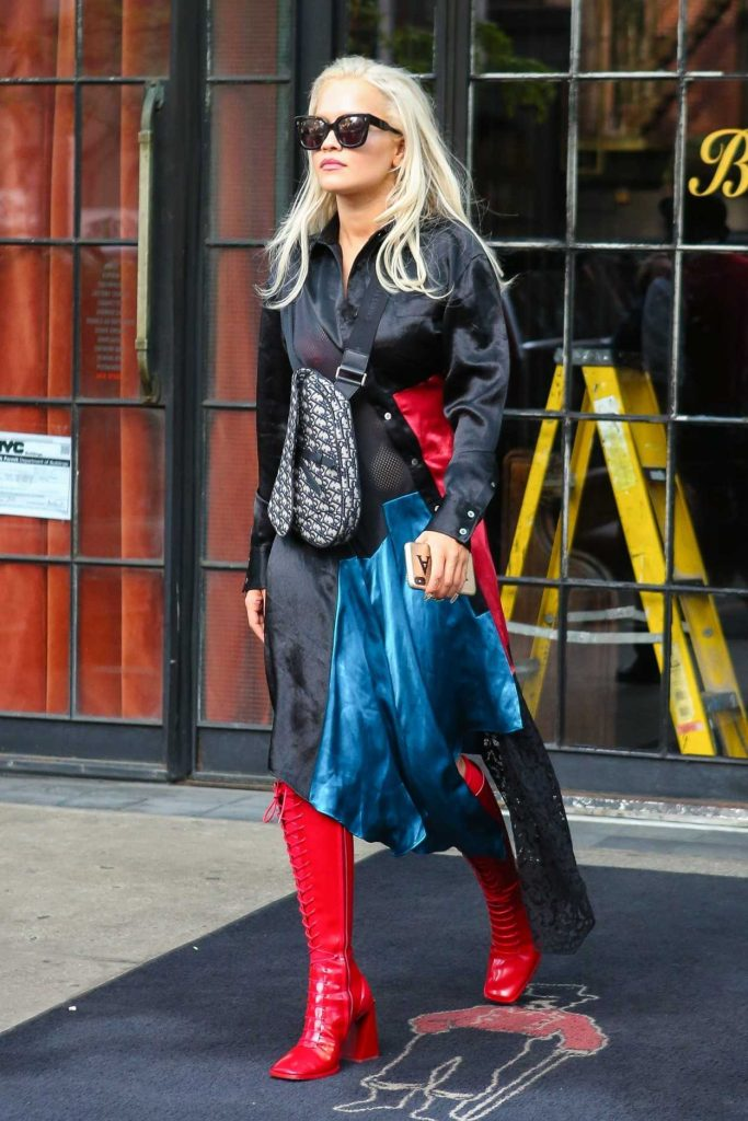 Rita Ora in a Red Boots