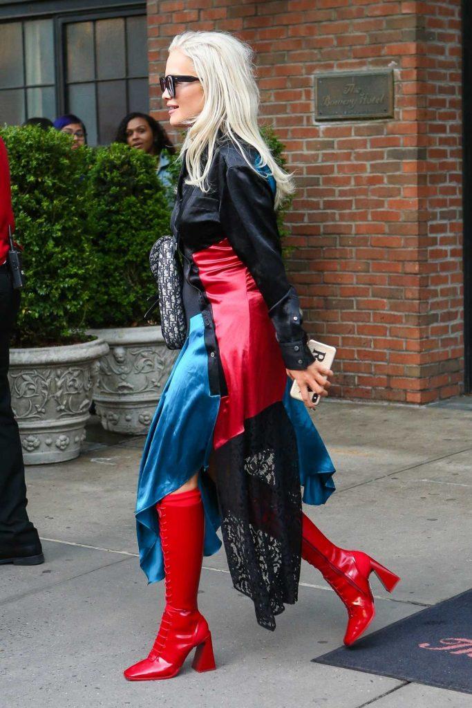 Rita Ora in a Red Boots