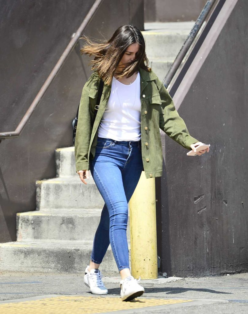 Ana de Armas in a White Sneakers