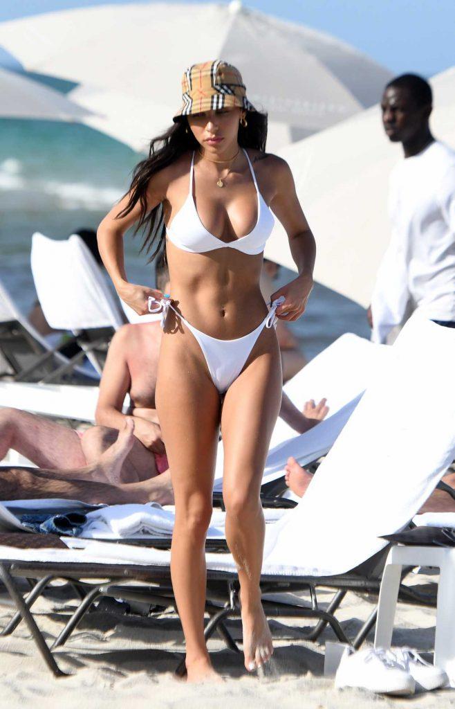Chantel Jeffries in a White Bikini