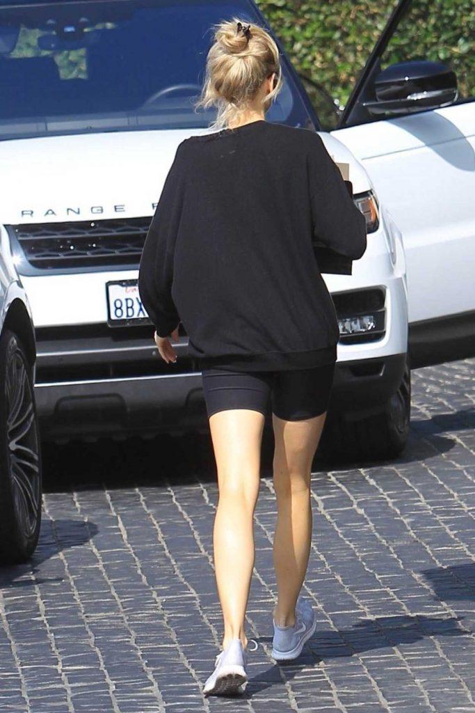 Charlotte McKinney in a Black Sweatshirt