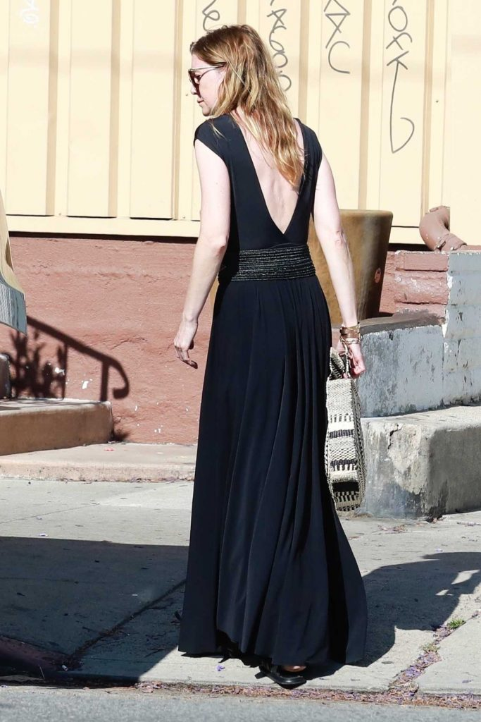 Ellen Pompeo in a Black Dress