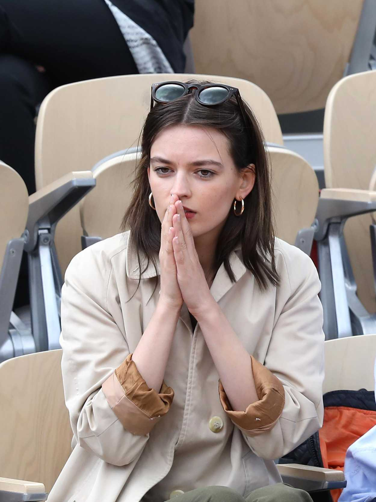 Emma Mackey Attends French Tennis Open at Roland Garros in ...