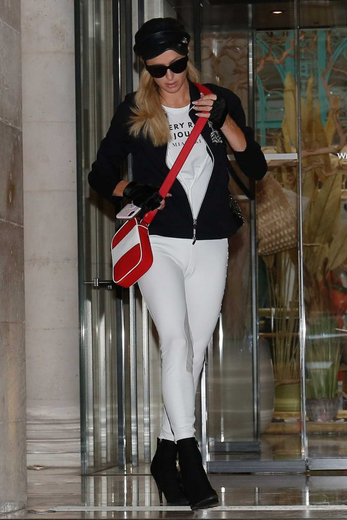 Paris Hilton in a White Leggings