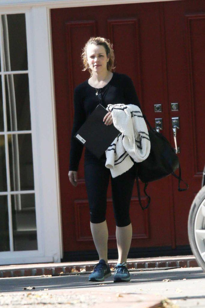 Rachel McAdams in a Black Leggings