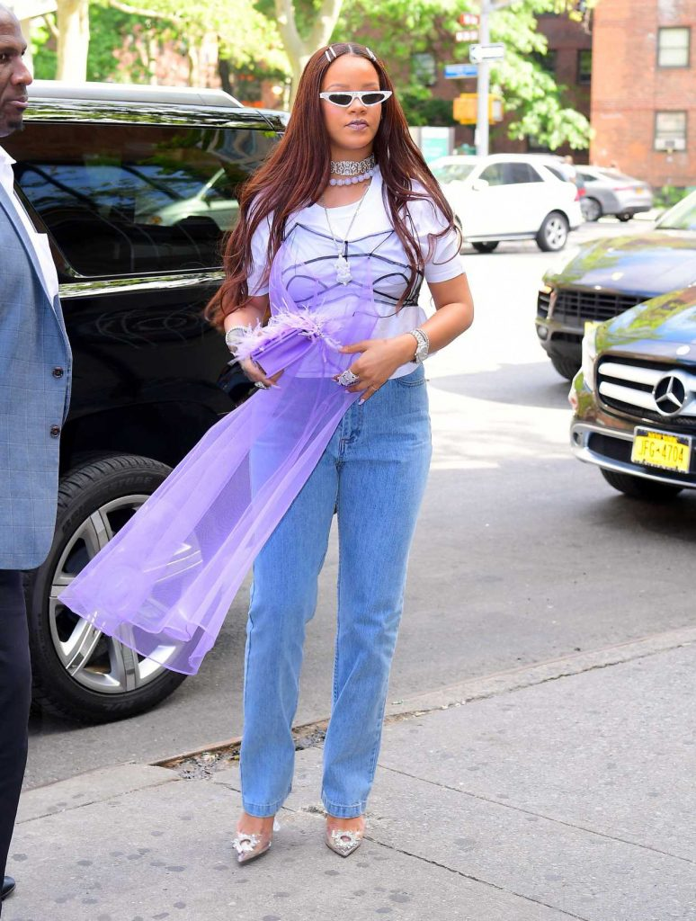 Rihanna in a Blue Jeans