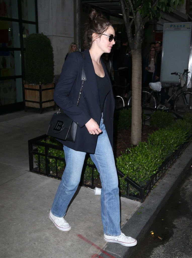 Shailene Woodley in a Blue Blazer