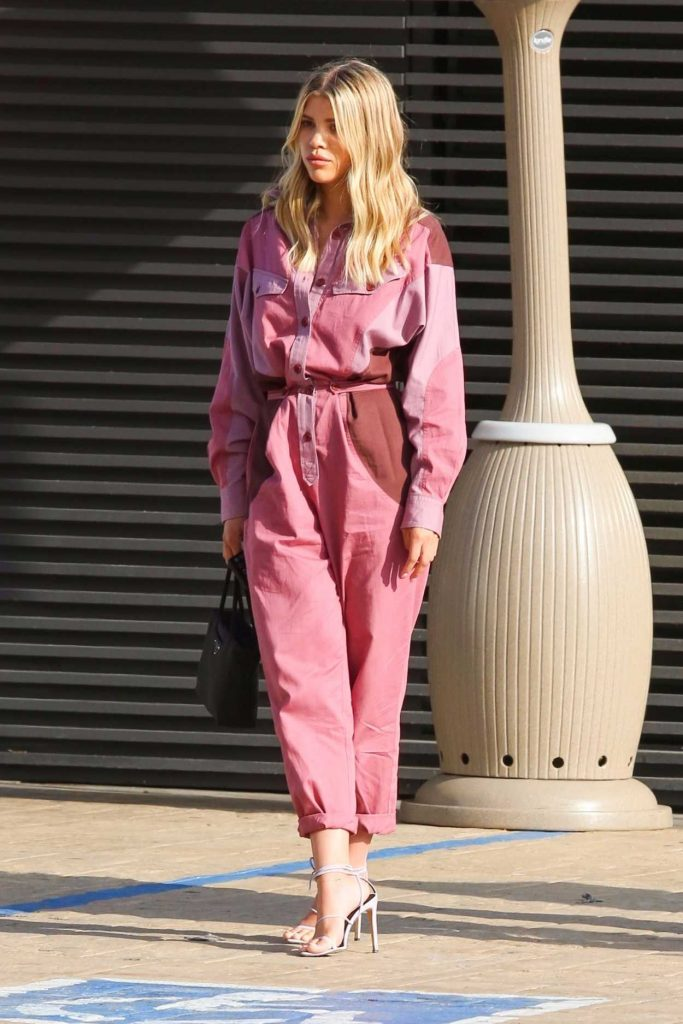 Sofia Richie in a Pink Jumpsuit