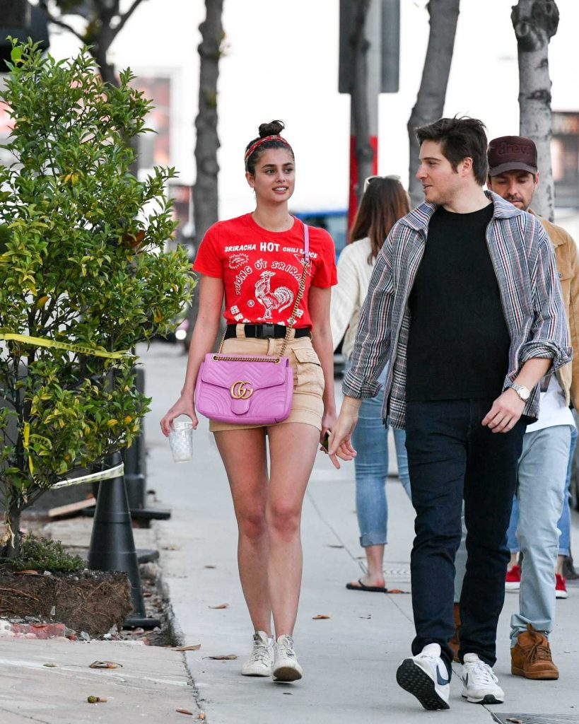 Taylor Hill in a Red Tee
