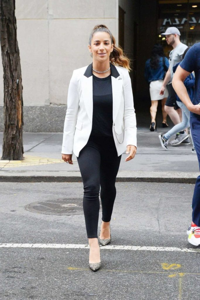 Aly Raisman in a White Blazer