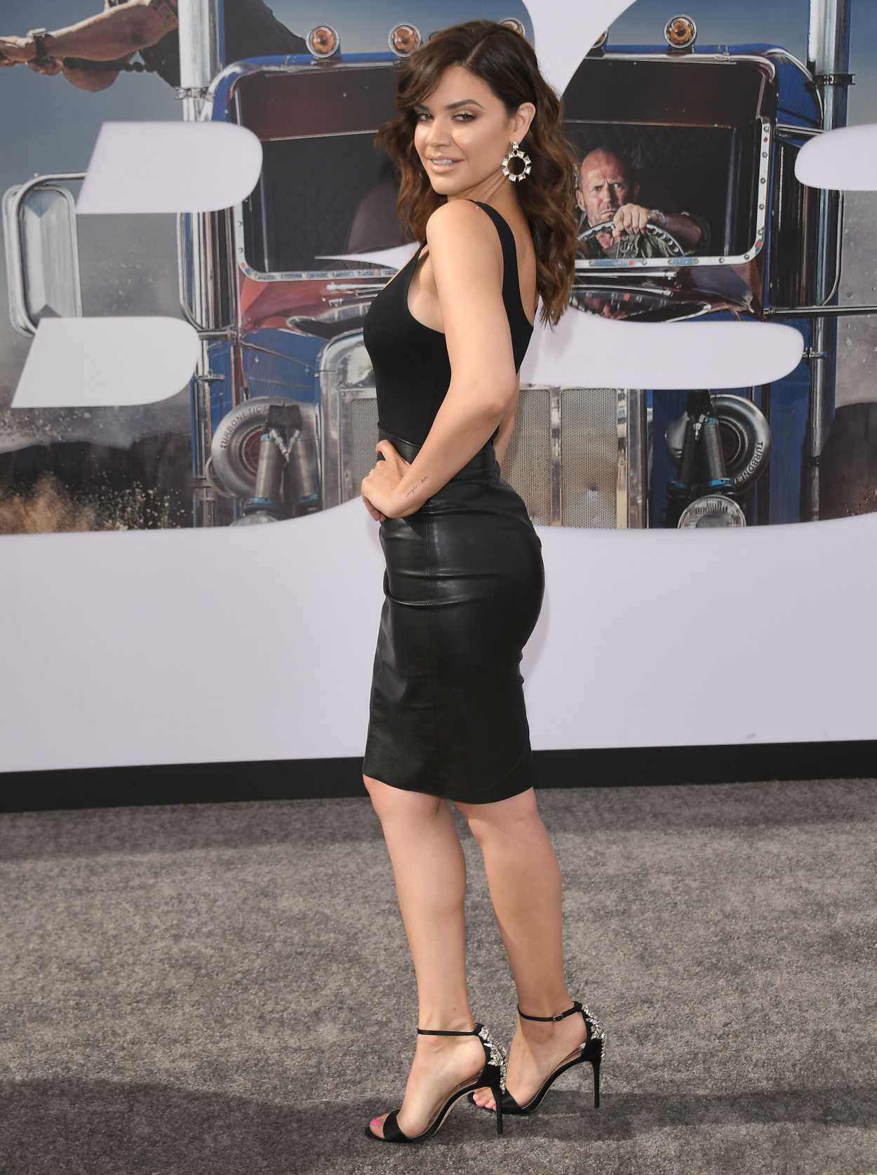 Angelica Celaya Attends Hobbs and Shaw World Premiere in Hollywood