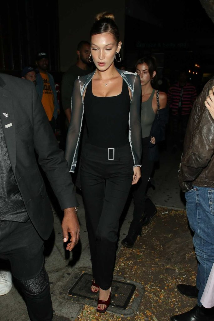 Bella Hadid in a Black Pants