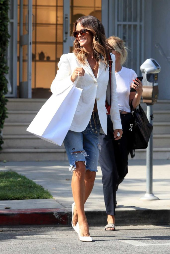 Brooke Burke in a White Blazer