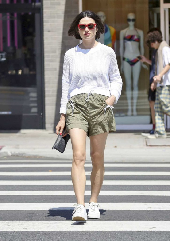 Crystal Reed in a White Sneakers