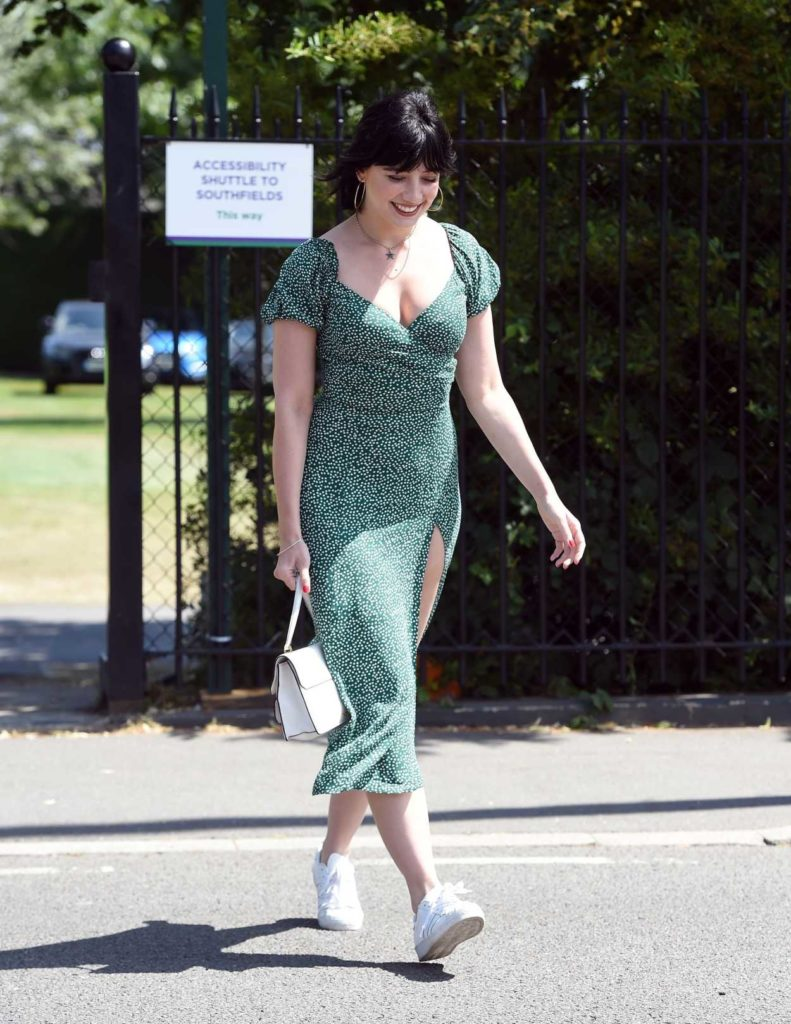 Daisy Lowe in a White Sneakers