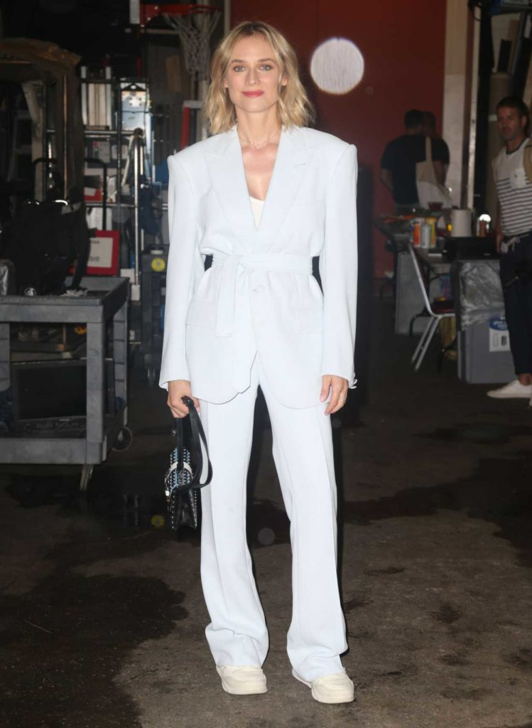 Diane Kruger in a White Suit