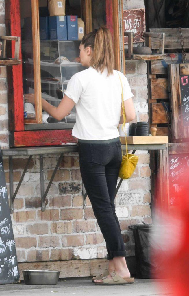 Elizabeth Olsen in a White Tee