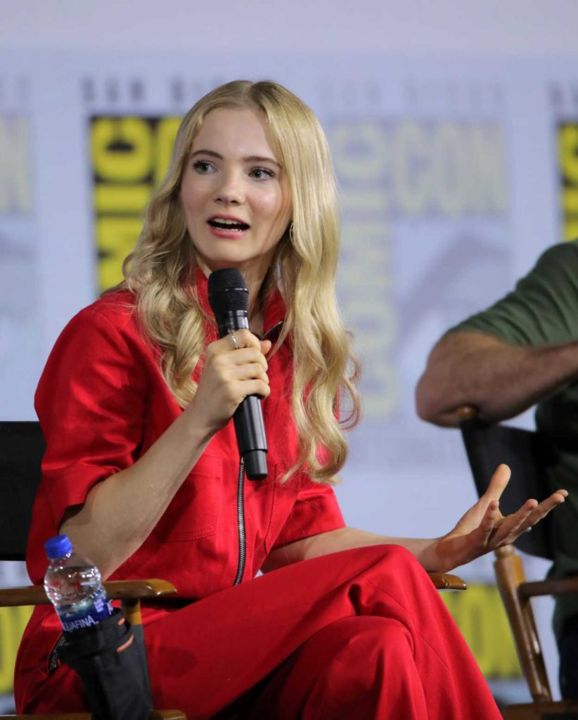 Freya Allan Attends The Witcher Panel During 2019 Comic