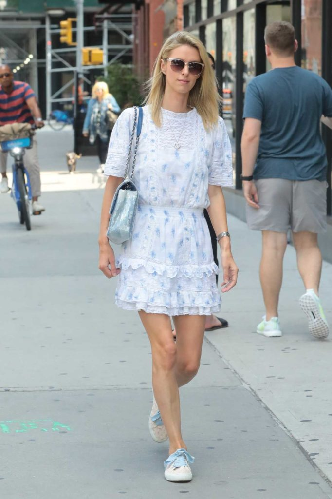Nicky Hilton in a White Dress