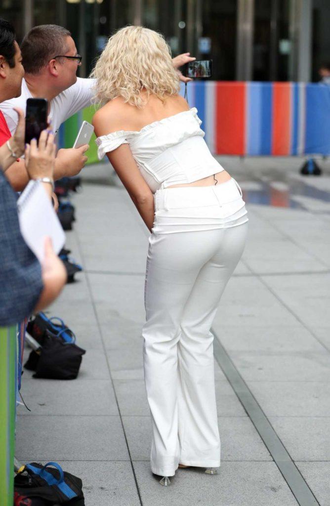 Pixie Lott in a White Pants