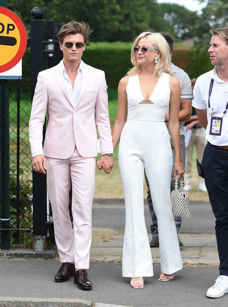 Pixie Lott in a White Suit